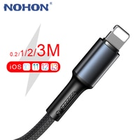 USB-кабель для зарядки и передачи данных для iPhone 6, 6s, 7, 8 Plus, 11, 12 Pro, Xs Max, X, XR 5s, SE 2020, iPad, длинный провод для быстрой зарядки, 20 см, 1 м, 2 м, 3 м