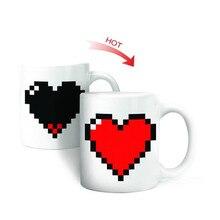 Coeur créatif magique température changeante tasse couleur changeante caméléon tasses chaleur sensible tasse café thé lait tasse nouveauté cadeaux