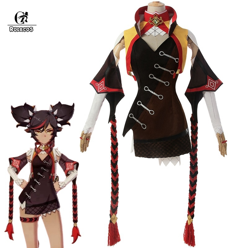 game genshin impact albedo cosplay costume carnival halloween performance outfit props men suit genshin impact costumes ROLECOS Genshin Impact Cosplay XINYAN Cosplay Costume Game Genshin Impact Costume for Women Halloween Suit Sexy Outfit
