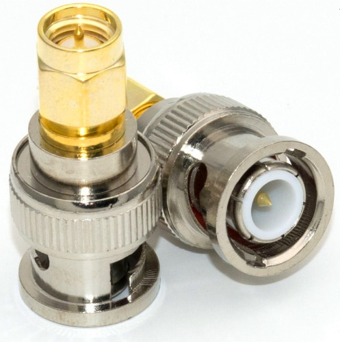 10PCS BNC Male To SMA Male RF Coax Adapter Connector High Quanlity