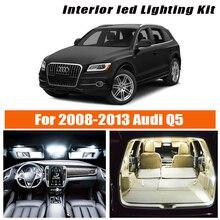 19 stücke Weiß Auto Innen Led-lampen Canbus Kit Für 2008 2009 2010 2011 2012 2013 Audi Q5 Karte dome kennzeichen licht Lampe