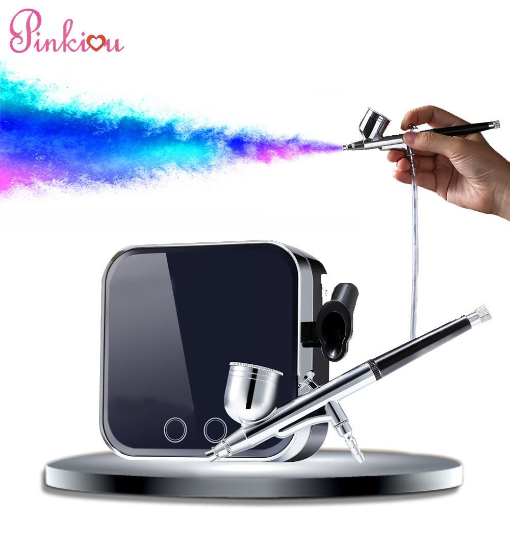 airbrush 0 4mm compressor airbrush for nail needle art kit set for body paint makeup craft toy models airbrush makeup system set Airbrush Makeup Kit With Compressor Professional Airbrush Compressor Kit Airbrush for nails Makeup Face Paint Body Tattoo Kit