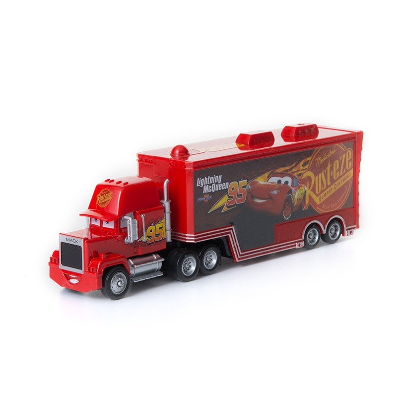 Coches de Disney Pixar coches 3 juguetes No.95 Mack tío camión Rayo McQueen Jackson tormenta de fundición modelo de coche de juguete regalos de los niños