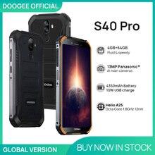DOOGEE S40 Pro Smartphones Android 10 Rugged Mobile Phone IP68/IP69K 4GB RAM 64GB ROM Waterproof Hel