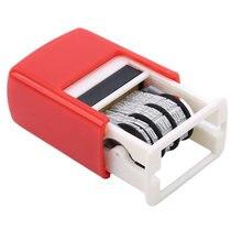 Sıcak yaratıcı DIY kolu hesabı tarih pulları damgalama çamur seti Mini kendinden mürekkepli pullar Scrapbooking için ofis malzemeleri kabartma