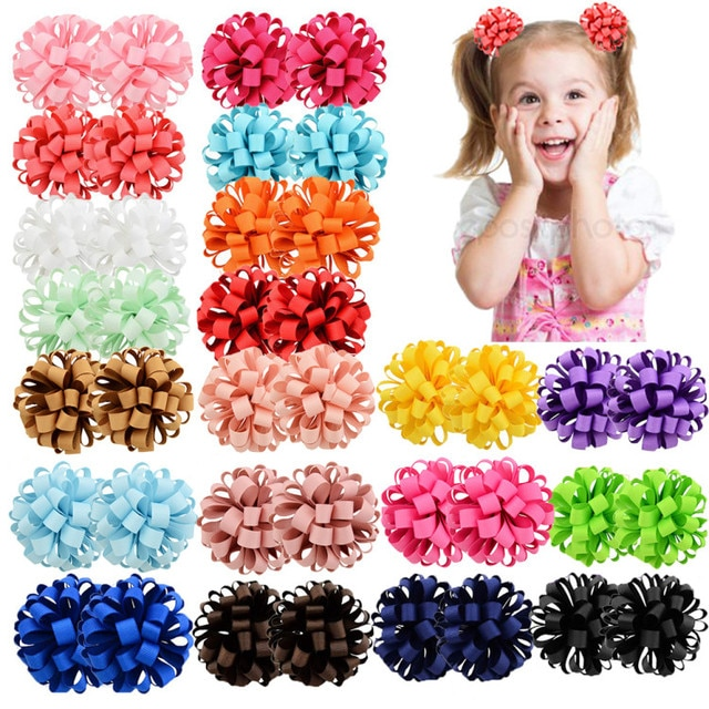 1piece 3inch New Design Beauty Grosgrain Ribbon Flower With Elastic Rope Floral Hair Bands Kids Accessories 813