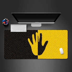 Novel And Creative Yellow And Black Hand Mouse Pad Rubber Mousepad PC Game Computer Mouse Pad For Hot Trackball Mouse Mats