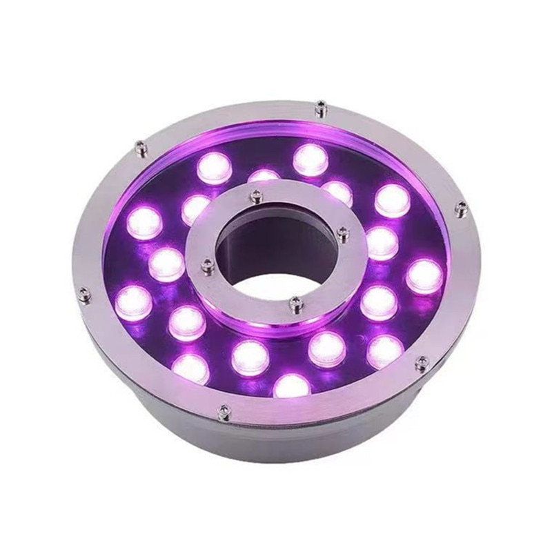 Pond Lighting Pool Colorful Rgb 24W Waterproof Outdoor Waterfall Fountain Lights Submersible Lights for Water Fountains enlarge
