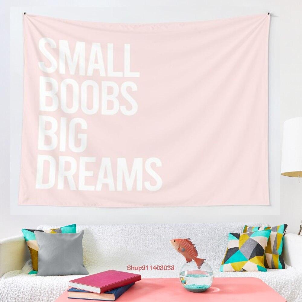Гобелен с маленькой грудью и большими мечтами, настенные подвесные гобелены для гостиной, спальни, Декор