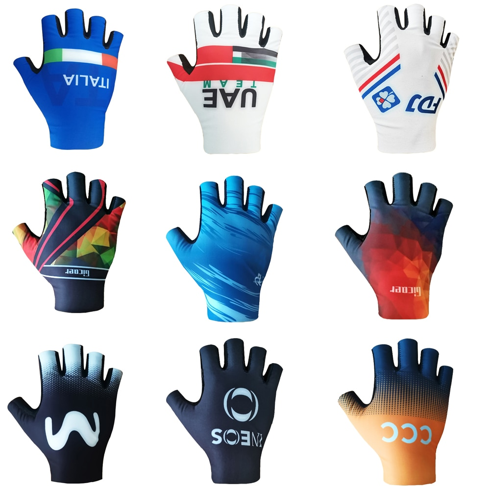 Guantes de Ciclismo de equipo profesional, transpirables, 3D con almohadilla de GEL,...