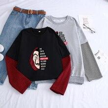 Streetwear Sweatshirt Autumn Hip-Hop Money Heist The House of Paper Dali Hoodies Men Tracksuit Harajuku Splicing Color La Casa