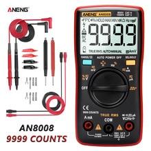 ANENG AN8008 สีส้ม True-RMS 9999 นับเครื่องทดสอบทรานซิสเตอร์ตัวเก็บประจุยานยนต์ไฟฟ้า rm409b คลิปทดสอบ