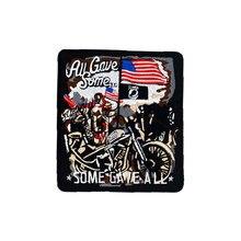 Biker patchs de moto brodés pour gilet   Tout en fer sur le dos de larmée américaine, rock punk amusant