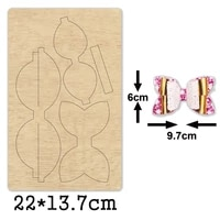 fashion multilayer bow knot cutting dies 2020 new die cut bow wooden dies suitable for common die cutting machines on the market