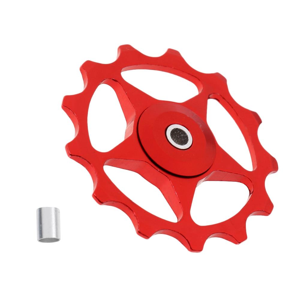 13T Aluminum Alloy MTB Bearing Jockey Wheel Pulley Road Bike Bicycle Cycling Rear Derailleur Roller Idler Guide Roller