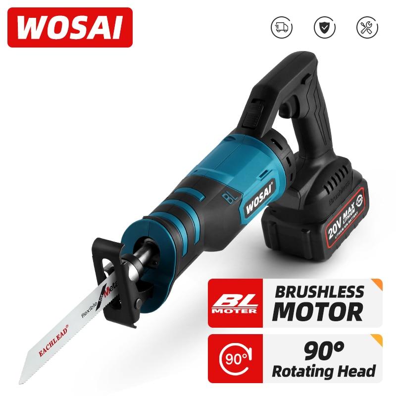 WOSAI-منشار كهربائي لاسلكي محمول ، أدوات قطع 20 فولت ، ثلاثة اتجاهات قابلة للتعديل ، أدوات كهربائية لاسلكية