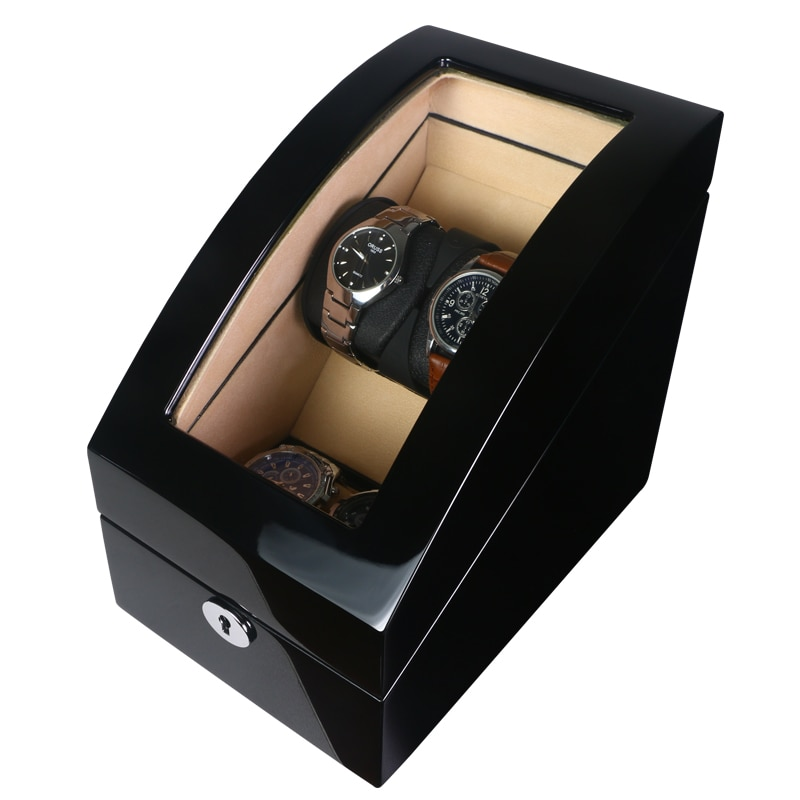 Watch Winder Shaker Box Case Storage Display Automatic Wooden Single Motor 4 Slots Watch Winder Rotation Organizer Holder Piano enlarge