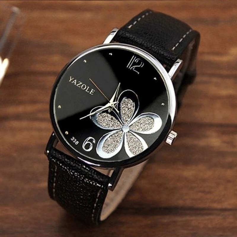 Luxury Classic Women's Casual Quartz Leather Band Strap Watch Round Analog Clock Wrist Watches Relojes Para Mujer Unique Watch wooden watches men s watch handmade elk wrist watch deer analog quartz clock male with full ebony wood band relojes para mujer