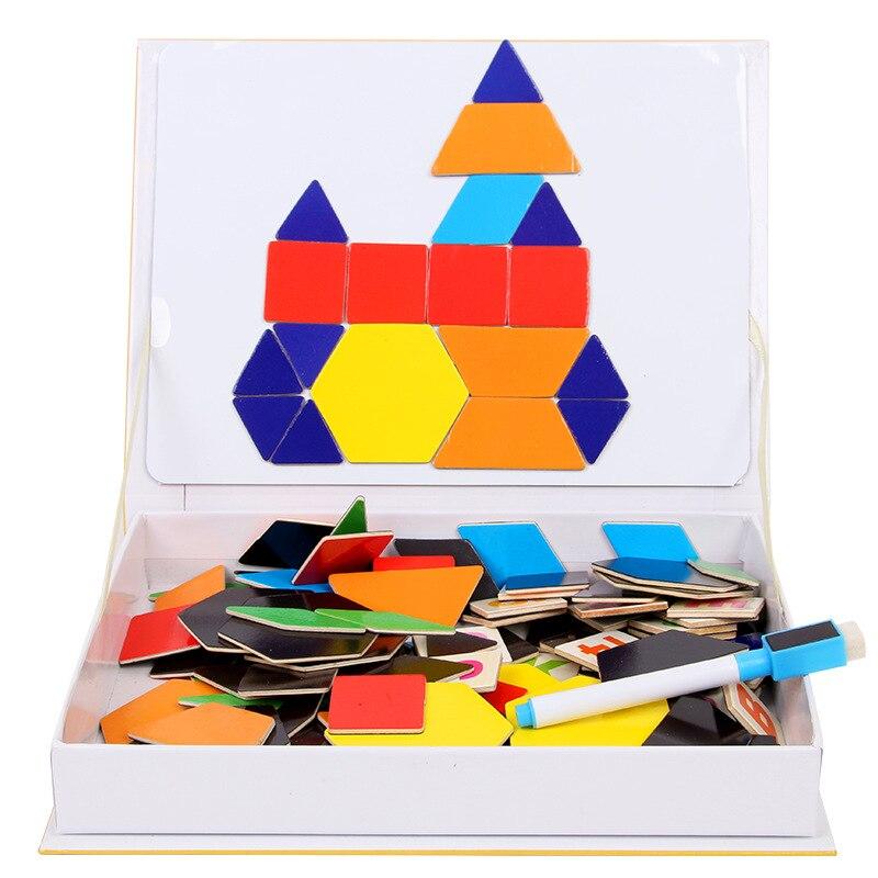 Éducatif coloré petite enfance variété magnétique Puzzle enfants développement Mental jouets en bois pour les enfants