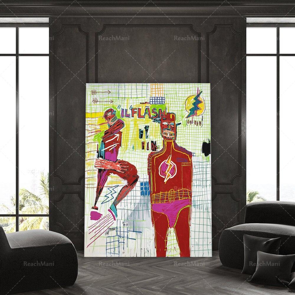 Flash - Basquiat Art Print, Poster, wall art, Jean Michel Basquiat, Exhibition Poster