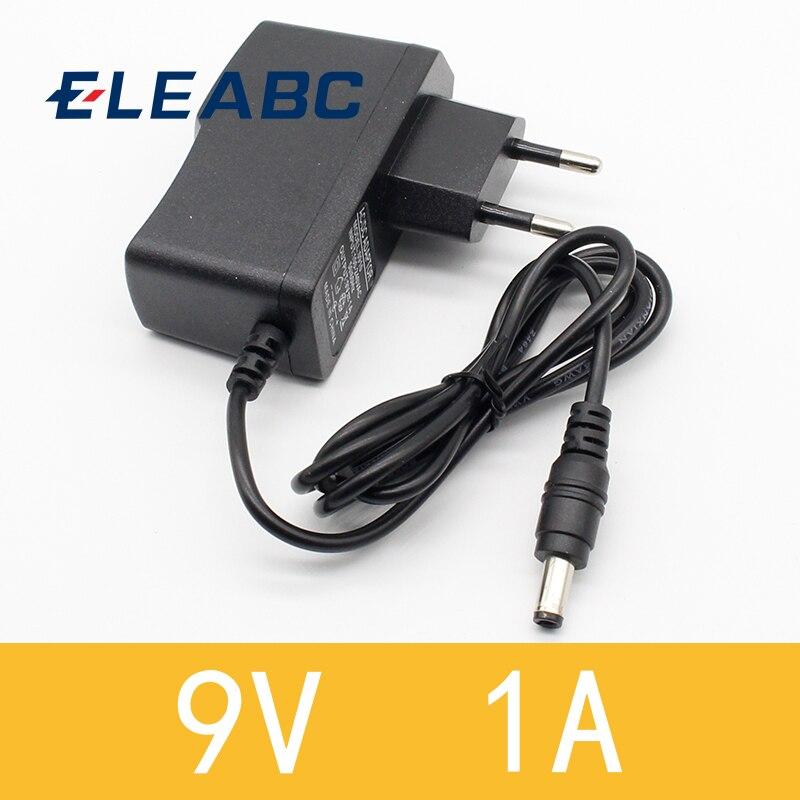1 Uds 9v 1a dc adaptador de corriente eu 5,5mm * 2,1mm interfaz fuente de alimentación 100-240v ac adaptador para arduino UNO MEGA
