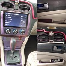 For Ford Focus 2005-2008 Interior Central Control Panel Door Handle 3D/5D Carbon Fiber Stickers Deca