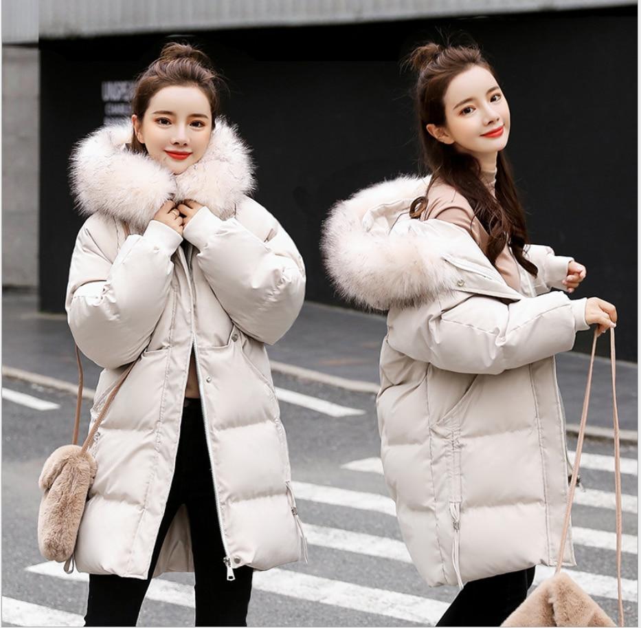 Lady Ultra Light Duck Down Hooded Fur Collar Jacket Women Lightweight Coat Female Windbreaker Parka Jackets White Long Coats