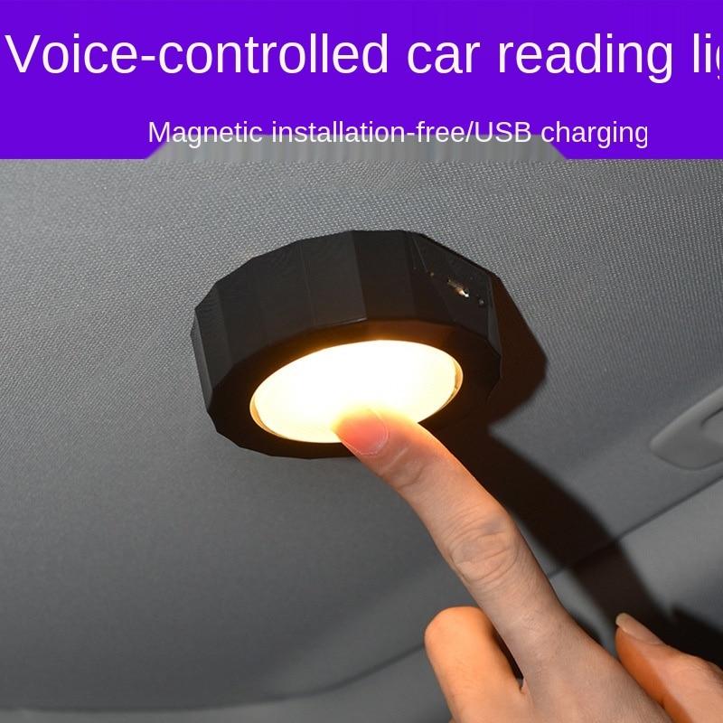 Новая функция голосового управления светодиодный автомобильное светодиодное освещение для чтения светодиодный лампа для чтения освещени...