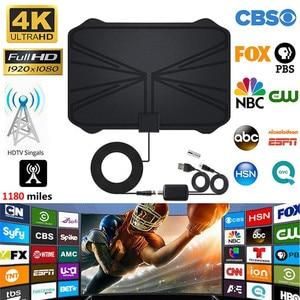 hengshanlao 2021 Digital Antenna Indoor 1800 Miles HD TV Antenna with Amplifier Signal Booster DVB-T2 ISDB-T ASTC TV Aerial dish