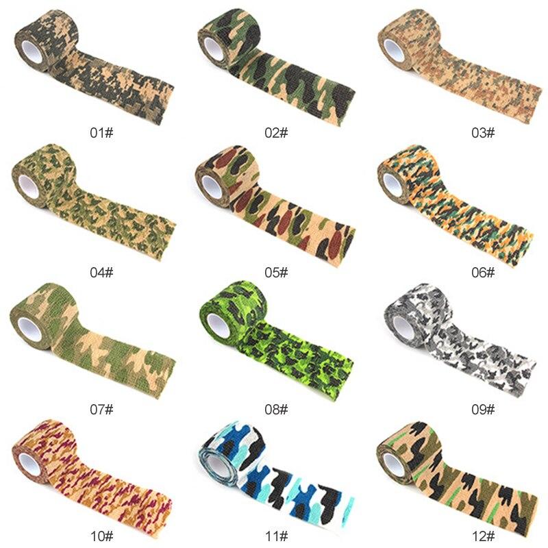 1 cinta adhesiva de camuflaje duradera para ciclismo, de caza, de camuflaje, impermeable, para acampada y caza
