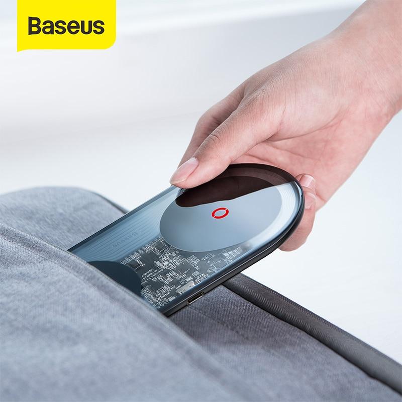 Baseus 24w qi carregador sem fio com carregador rápido da ue para o iphone 11 xs pro 2 in1 carregamento rápido carregador sem fio para huawei xiaomi