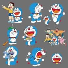 Belle Bande Dessinée Anime Doraemon Patch Appliques De Transfert De Chaleur Vinyle Lettre Autocollants pour Enfants Vêtements T-SHIRT BRICOLAGE Presse Thermique