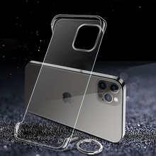 Ultra Thin Transparent For Apple iPhone 12 Mini 11 Pro Max X Xr XS 7 8 Plus SE 2020 Luxury Hard Shell Borderless Phone Case