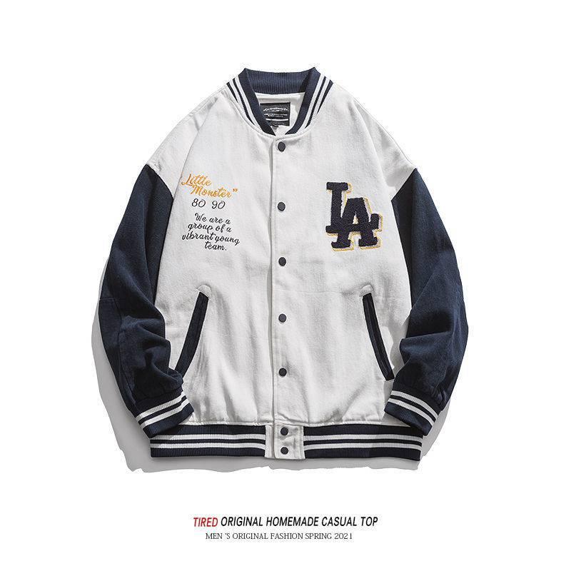 Мужская бейсбольная куртка в стиле Харадзюку, весенняя куртка с круглым вырезом, повседневная мужская одежда, Куртка Varsity, модная мужская ве...