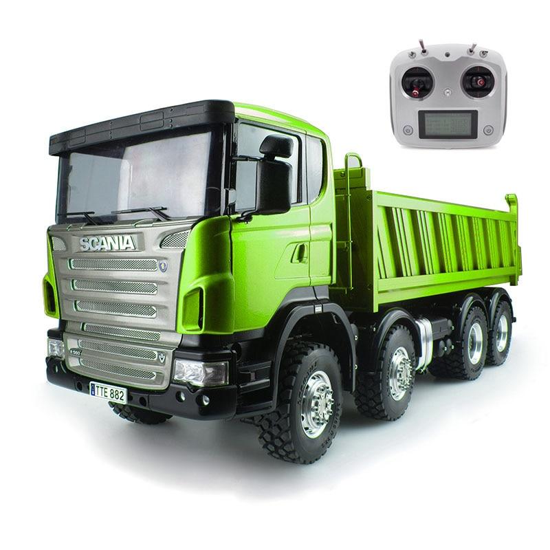 LESU 1/14 Metall Sca 8*8 Hydraulische Dumper RC Lkw Radio Motor ESC Gemalt Auto THZH0342