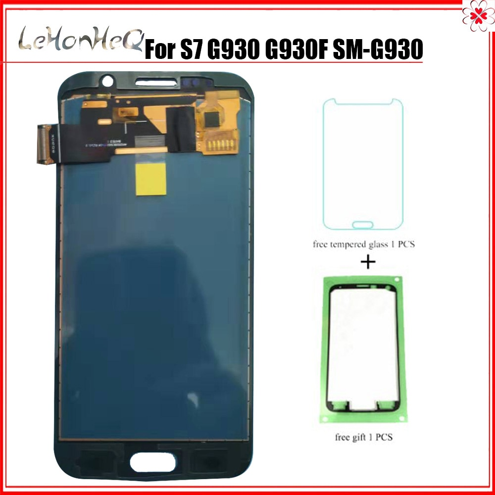 Тест Новый ЖК для samsung Galaxy S7 G930 G930F G930A G930P G930V дисплей кодирующий преобразователь сенсорного экрана в сборе ЖК