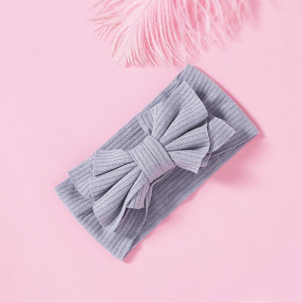 Banda de pelo para niños cinta para pelo elástica de nailon 15 colores bolsa hecha a mano cinta para el pelo de lazo accesorios para el cabello de recién nacidos diadema