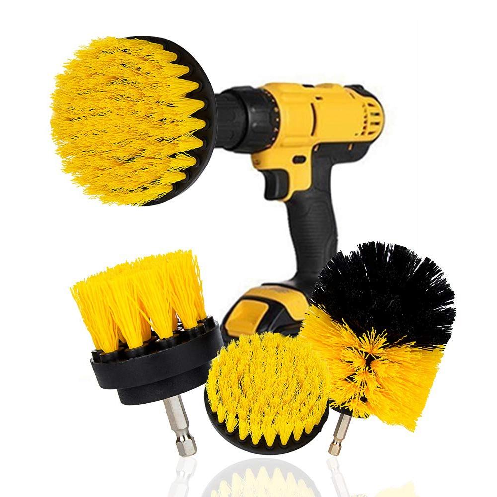 3 unids/set Kit de cepillo eléctrico de cepillo de limpieza de plástico redondo cepillo para neumáticos de vidrio de alfombra de coche cepillos de nailon 2/3 ¡! 5/4