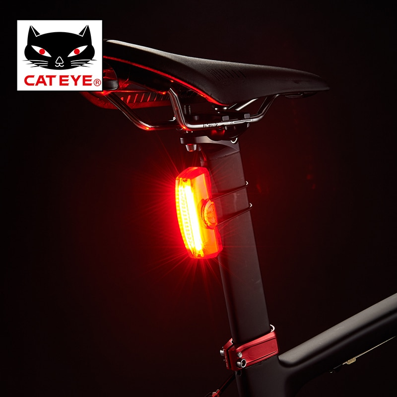 CATEYE Tail Light USB rechargeable Rapid X Rear Light MTB Road Cycling Riding Ultralight Tail Light Bike warning Flashing Lamp