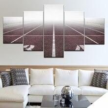 Cadres 5 panneau sport aire de jeux piste toile mur Art photo paysage HD toile peinture moderne salon décoratif