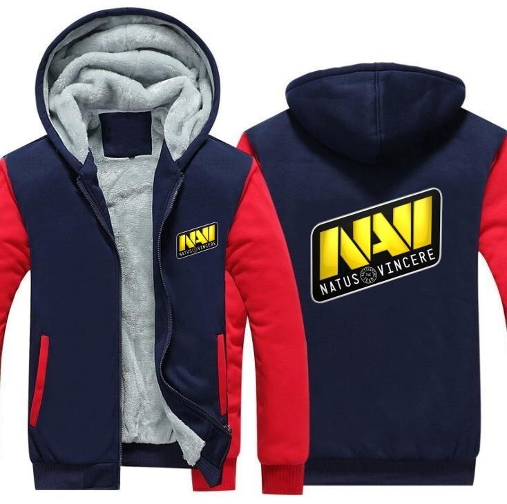 Sudadera con capucha del equipo del juego DOTA 2 Jersey Natus Vincere chaqueta Navi CSGO LOL DOTA2 sudaderas con capucha para hombres espesar las tapas de la cremallera del paño grueso y suave