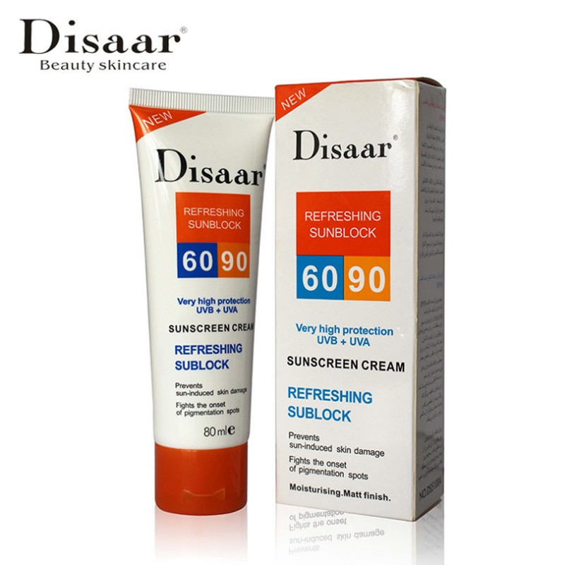 Disaar protector solar Crema Spf 90 + + hidratante protector de piel bloqueador solar 80g cuidado evita que la piel daño eliminar Pigmention manchas