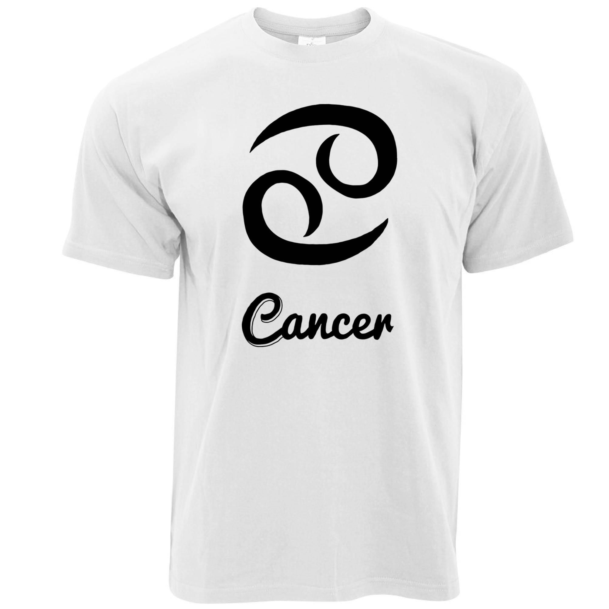Camiseta para hombre, camiseta Regular corta con signo del zodiaco del cáncer, Horóscopo de cumpleaños, camiseta de amor de cangrejo y agua