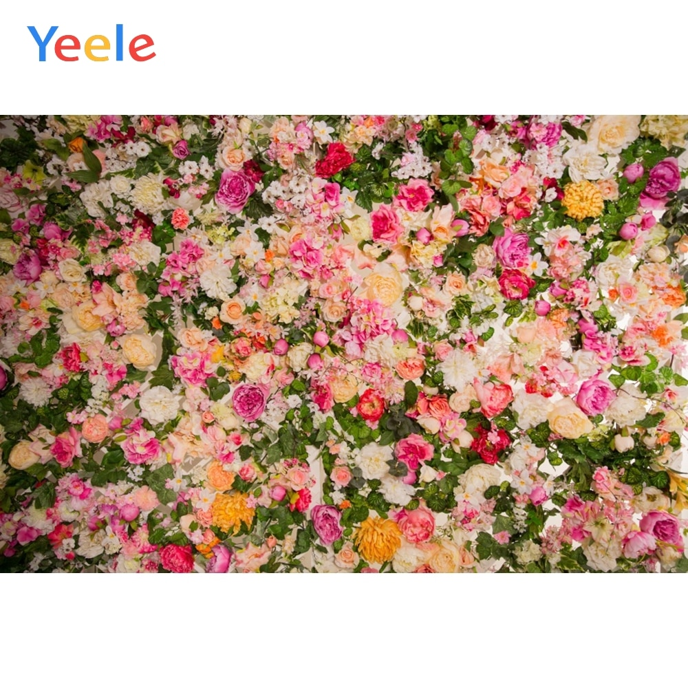 yeele photophone for wedding party chic wall flower pattern photography backdrops photographic background for photo studio props Yeele Wedding Decor Blossom Flowers Wall Photophone Baby Portrait Photographic Background Photography Backdrops For Photo Studio