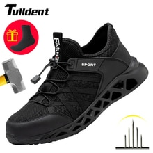 Men Safety Shoes Work Sneakers Puncture-Proof Safety Boots Men Steel Toe Cap Work Boots Indestructib