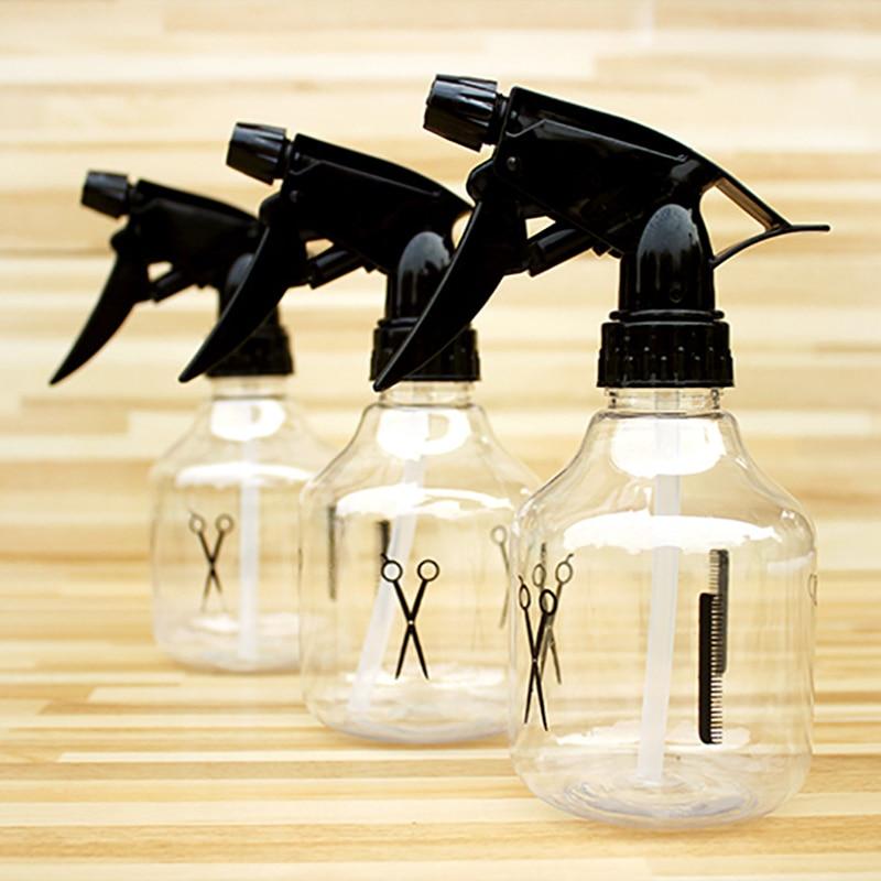 250ml vacío duradero rellenable neblina salón de peluquería DIY Barbero transparente botellas de agua Spray Herramienta de Peinado