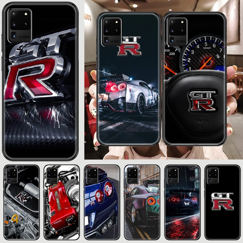 GTR car logo Phone case For Samsung Galaxy Note 4 8 9 10 20 S8 S9 S10 S10E S20 Plus UITRA Ultra blac