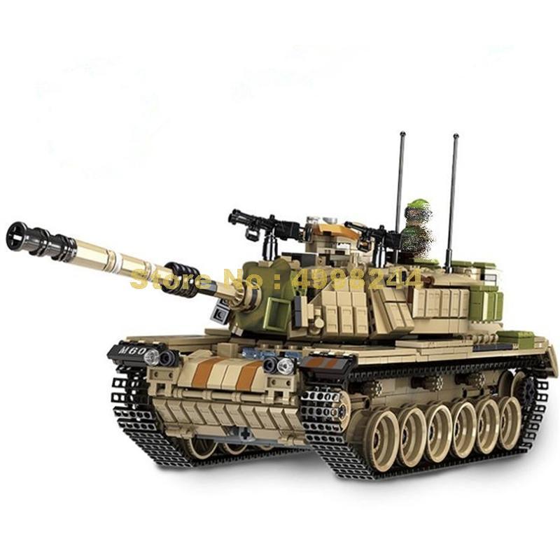 632004 1753 Uds. Militar Guerra Mundial israel m60 magach tanque de batalla principal ww2 fuerzas armadas 5 figuras bloques de construcción de juguete
