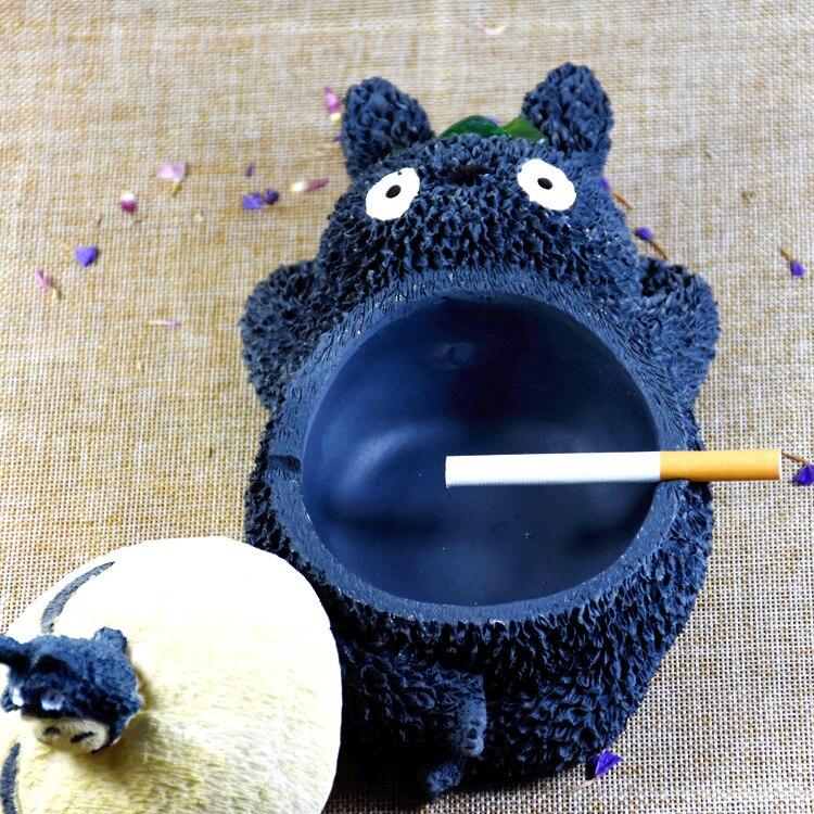 Bonita figura de acción de Anime Cenicero accesorios para fumar para fumadores animales originales de resina manualidades decoración del hogar