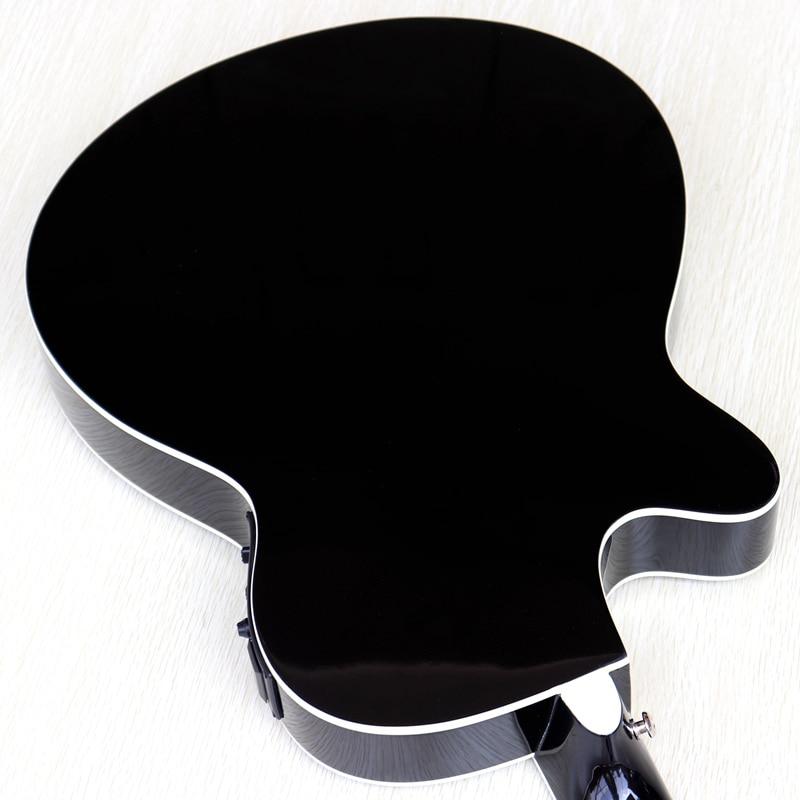 thin body acoustic-electric guitar beginner guitar with free gig bag free string black natural sunburst white color enlarge